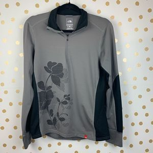 The North Face Floral Vapor Wick 1/4 Zip Up M